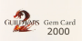 European Union: Guild Wars 2 Gems 2000 Game Card Coupon Prepaid Credit PIN