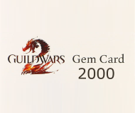 Guild Wars 2 Gems 2000 Game Card 25 EUR Prepaid Coupon
